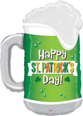 Betallic 34inch Shape St Patricks Day Green Beer (C) Pkg - Seasonal
