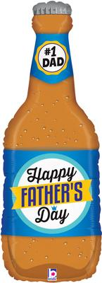 Betallic 34inch Shape Fathers Day Beer Bottle (C) - Seasonal