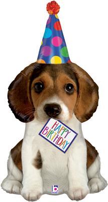 Birthday Puppy 41inch (C) - Foil Balloons