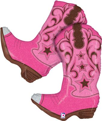 Pink Dancing Boots 36inch (C) - Foil Balloons