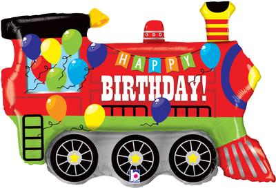Birthday Party Train 37inch (C) - Foil Balloons