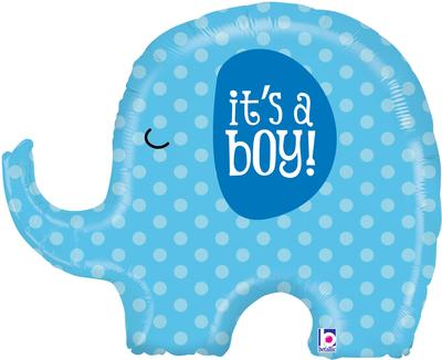 Shape - It's A Boy Elephant 32inch (D) - Foil Balloons