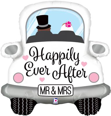 Happliy Ever After Car 31inch (C) - Foil Balloons