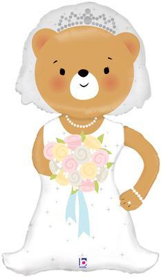 Linky Bride Bear 43inch (J) - Foil Balloons