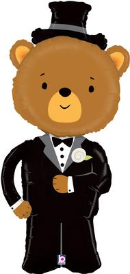 Linky Groom Bear 49inch (J) - Foil Balloons