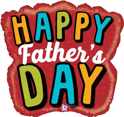 Betallic 28inch Shape Bold Father's Day Word (C) Pkg - Foil Balloons