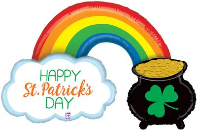 Betallic 47inch Shape St. Pats Pot of Gold (U) Pkg - Seasonal
