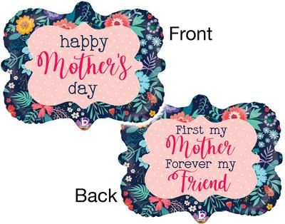 Betallic 30inch Shape Mothers Day Navy Frame (C) Pkg - Seasonal