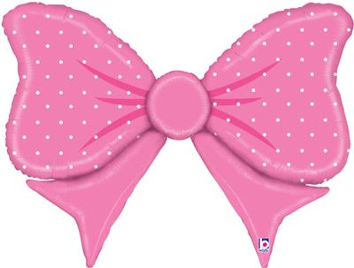 Betallic 42inch Shape Pink Bow (F) Pkg - Foil Balloons