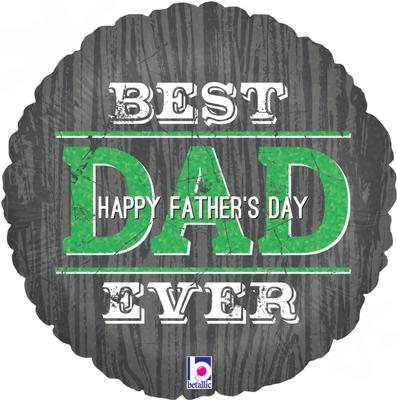 Betallic 18inch Fathers Day Best Dad Ever Holographic - Seasonal
