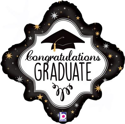 Betallic 18inch Congratulations Graduate Holographic - Foil Balloons