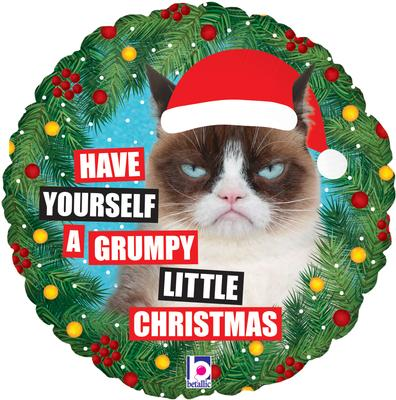 Betallic 18inch Grumpy Cat® Christmas Holographic - Seasonal