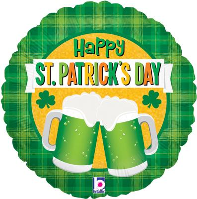 Betallic 18inch St Patricks Day Green Beer  - Seasonal