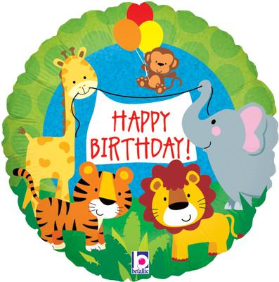 Jungle Animals Bday - Foil Balloons