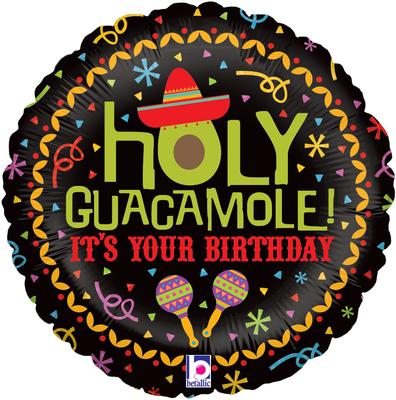 Holy Guacamole Birthday - Foil Balloons