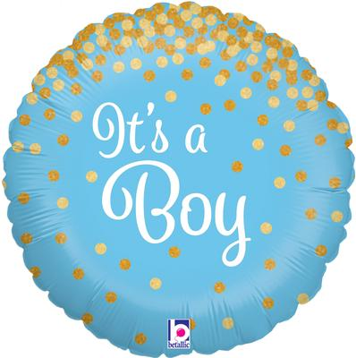 Glittering It's a Boy Holographic - Foil Balloons