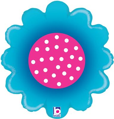 Betallic 18inch Spring Flowers Blue - Foil Balloons