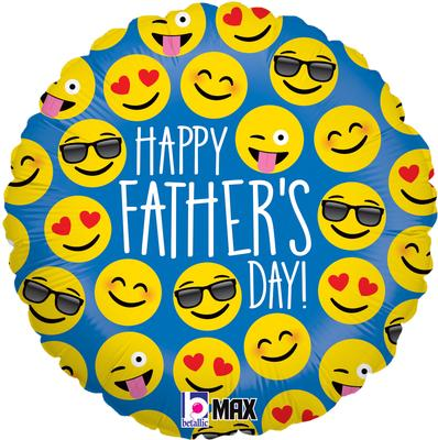 Betallic 18inch Emoji Father's Day Holographic - Seasonal
