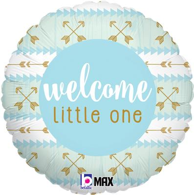 Betallic 18inch Welcome Little One - Blue - Foil Balloons