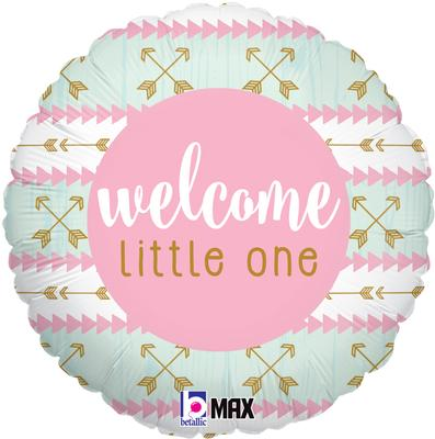 Betallic 18inch Welcome Litte One - Pink - Foil Balloons