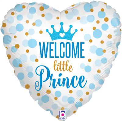 Betallic 18inch Glitter Baby Prince Holographic - Foil Balloons