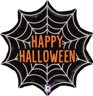 Betallic 18inch Halloween Web Holographic - Seasonal