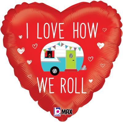 Betallic 18inch Love How We Roll Camper - Foil Balloons