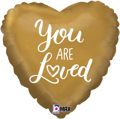 Betallic 18inch You Are Loved Holographic - Foil Balloons