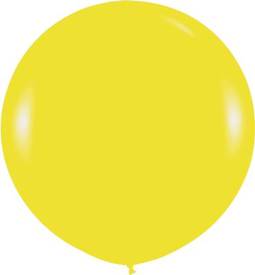 36inch Fashion Solid Yellow 020 - Latex Balloons