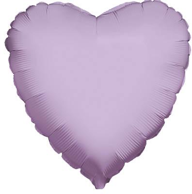 Lavender Heart Unpackaged - Foil Balloons