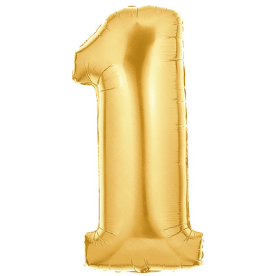 No 1 Gold - Foil Balloons