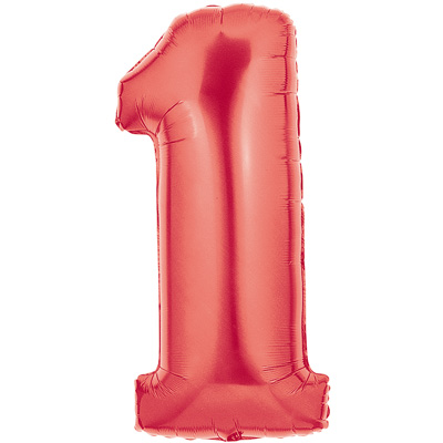 No 1 Red - Foil Balloons