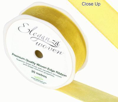 25mm Woven Ribbon Yellow No.11 - Ribbons
