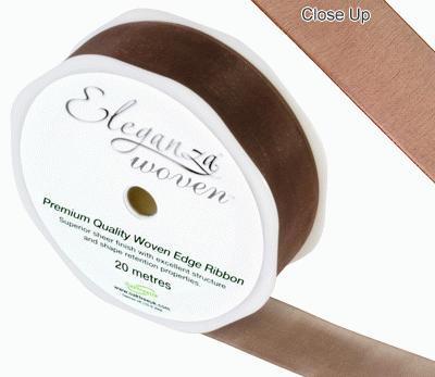 25mm Woven Ribbon Chocolate No.58 - Ribbons