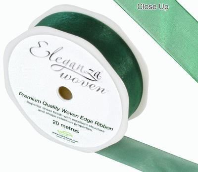 25mm Woven Ribbon Green No.50 - Ribbons