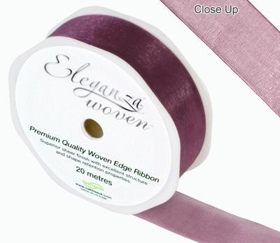25mm Woven Ribbon Grape No.46 - Ribbons