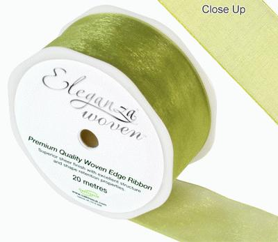 38mm Woven Ribbon Pistachio No.27 - Ribbons