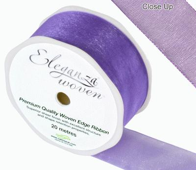 38mm Woven Ribbon Purple No.36 - Ribbons