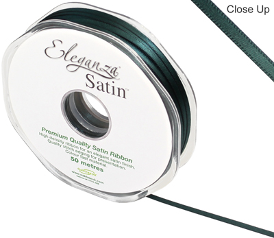 Eleganza Double Faced Satin 3mm x 50m Green No.50 - Ribbons