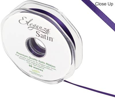 Eleganza Double Faced Satin 3mm x 50m Plum No.49 - Ribbons