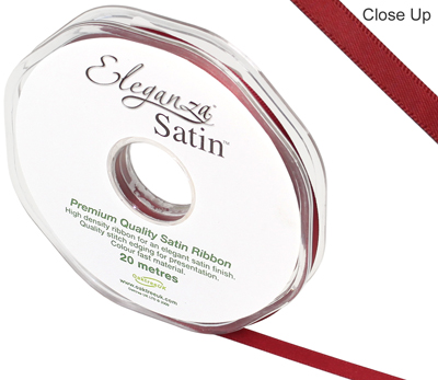 Eleganza Double Faced Satin 6mm x 20m Claret No.31 - Ribbons
