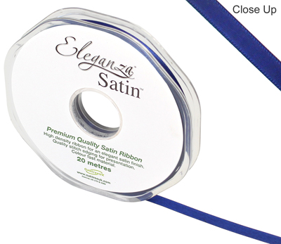 Eleganza Double Faced Satin 6mm x 20m Midnight Blue No. 19 - Ribbons