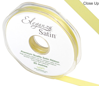 Eleganza Double Faced Satin 10mm x 20m Pale Yellow No.10 - Ribbons