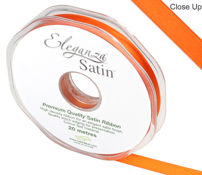 Eleganza Double Faced Satin 10mm x 20m Orange No.04 - Ribbons