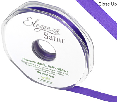 Eleganza Double Faced Satin 10mm x 20m Purple No.36 - Ribbons