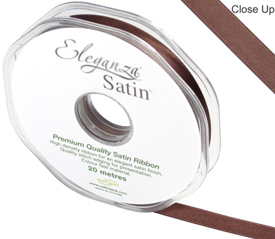 Eleganza Double Faced Satin 10mm x 20m Chocolate No.58 - Ribbons