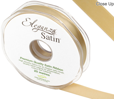 Eleganza Double Faced Satin 15mm x 20m Gold No.35 - Ribbons