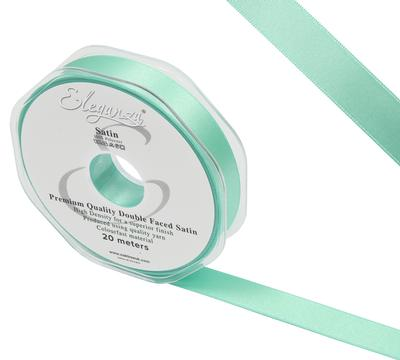 Eleganza Double Faced Satin 15mm x 20m Mint No.13 - Ribbons