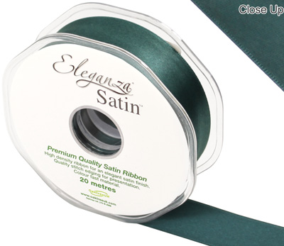 Eleganza Double Faced Satin 25mm x 20m Green No.50 - Ribbons