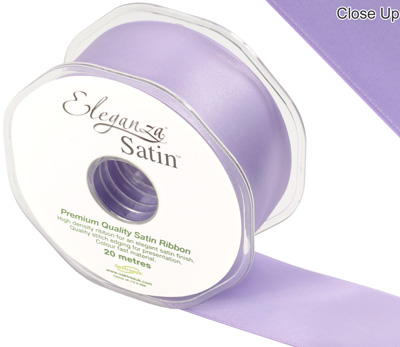 Eleganza Double Faced Satin 38mm x 20m Lavender No.45 - Ribbons